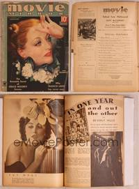 8z027 MOVIE MIRROR magazine January 1935, wonderful art of pensive Joan Crawford by A. Mozert!