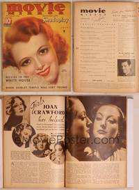 8z032 MOVIE MIRROR magazine July 1935, wonderful smiling art portrait of Janet Gaynor by Mozert!