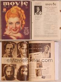 8z030 MOVIE MIRROR magazine May 1935, great close up art of Ginger Rogers with hands clasped!