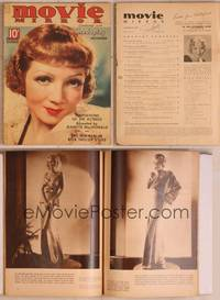 8z036 MOVIE MIRROR magazine November 1935, portrait of Claudette Colbert by James Doolittle!