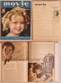 8z035 MOVIE MIRROR magazine October 1935, wonderful close up of cute Shirley Temple by Doolittle!