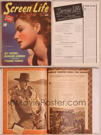 8z040 SCREEN LIFE magazine April 1940, sexiest super close portrait of Ann Sheridan!