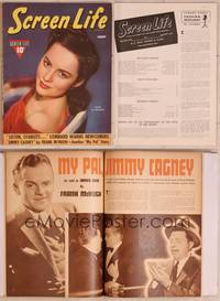 8z044 SCREEN LIFE magazine August 1940, Olivia De Havilland, Melanie from Gone with the Wind!