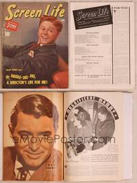 8z042 SCREEN LIFE magazine June 1940, hi-diddle-dee-dee Mickey Rooney becomes a director!