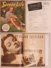 8z046 SCREEN LIFE magazine October 1940, Priscilla Lane in garden planting flowers!