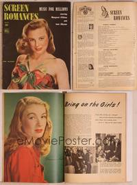 8z076 SCREEN ROMANCES magazine April 1945, pretty June Allyson in Music for Millions!