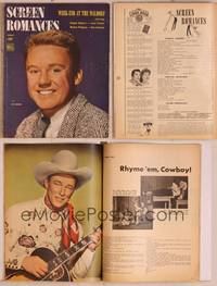 8z080 SCREEN ROMANCES magazine August 1945, Van Johnson in Week-End at the Waldorf!