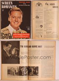 8z073 SCREEN ROMANCES magazine January 1945, Van Johnson from Thirty Seconds over Tokyo!