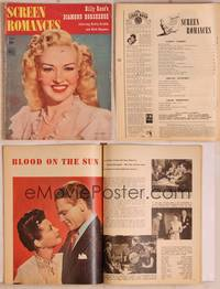 8z078 SCREEN ROMANCES magazine June 1945, Betty Grable in Billy Rose's Diamond Horseshoe!