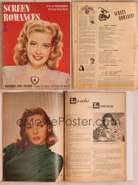 8z075 SCREEN ROMANCES magazine March 1945, pretty Gloria De Haven in Between Two Women!