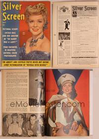 8z052 SILVER SCREEN magazine April 1943, close up of Alice Faye from Hello Frisco Hello!