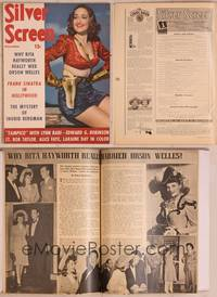 8z060 SILVER SCREEN magazine December 1943, sexy cowgirl Dorothy Lamour in Riding High!