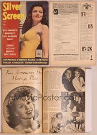 8z054 SILVER SCREEN magazine June 1943, close up of sexy Gene Tierney from Heaven Can Wait!