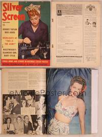 8z057 SILVER SCREEN magazine September 1943, Lucille Ball as a World War II lathe worker!