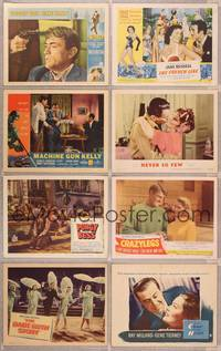 8z005 LOT OF 100 LOBBY CARDS 100 LCs mostly 1950s and 1960s, all in very good or better condition!