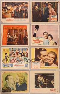 8z006 LOT OF 100 LOBBY CARDS #2 100 LCs mostly 1950s & 1960s, good to very good or lesser condition