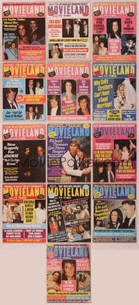 8z019 LOT OF MOVIELAND MAGAZINES 13 magazines '72-74 Liz, Cher, Jackie, Sophia, Peggy Lipton & more