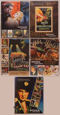 8z012 LOT OF HERITAGE MOVIE POSTER AUCTION CATALOGS 5 catalogs 2006-2008 Grey Smith's best!