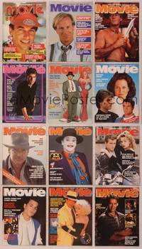 8z017 LOT OF MOVIE MAGAZINES 12 Australian magazines '88-90 Paul Hogan, Tom, Harrison, Jack & more!