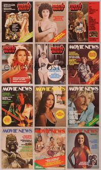 8z018 LOT OF MOVIE NEWS MAGAZINES 12 Australian magazines '76-77 top stars & lots of naked ladies!