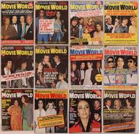 8z020 LOT OF MOVIE WORLD MAGAZINES 12 magazines '73-75 Liz, Elvis, Cher, Natalie, Redford & more!