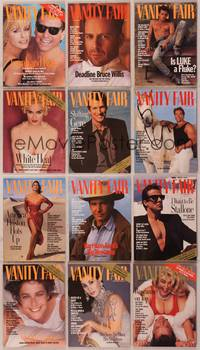 8z023 LOT OF VANITY FAIR MAGAZINES 12 magazines '90-92 Madonna, Gere, Cher, Sly, Debra & more!