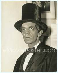 9g002 ABE LINCOLN IN ILLINOIS deluxe 7.75x10 news photo '40 great image of Raymond Massey in makeup