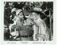 9g010 AFRICAN QUEEN 8x10 still R68 close up of Humphrey Bogart laughing at Katharine Hepburn!