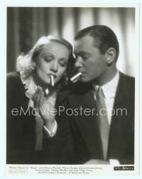 9g016 ANGEL 8x10 still '37 wonderful c/u of Herbert Marshall lighting Marlene Dietrich's cigarette!