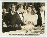 9g018 ANGELS WITH DIRTY FACES 8x10.25 still '38 James Cagney & Ann Sheridan gambling at roulette!