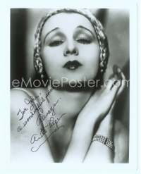 9g021 ANITA PAGE signed REPRO 8x10 still '80s super close head & shoulders portrait in cool cap!