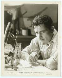 9g025 ARROWSMITH 8x10 still '31 great c/u of pensive Ronald Colman in laboratory, John Ford