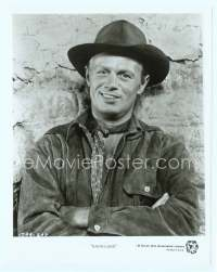 9g028 BACKLASH TV 8x10 still R60s close up of cowboy Richard Widmark with arms crossed!