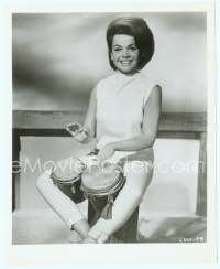 9g034 BEACH PARTY 8x10 still '63 close up of sexy Annette Funicello playing bongo drums!