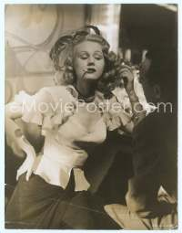 9g037 BEST YEARS OF OUR LIVES 7.25x9.5 still '47 close up of slutty smoking Virginia Mayo!