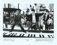 9g040 BIG 8x10 still '88 classic image of Tom Hanks & Robert Loggia playing giant piano in store!
