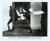 9g051 BONNIE & CLYDE 8x10 still '67 close image of Warren Beatty shooting tommy gun in doorway!