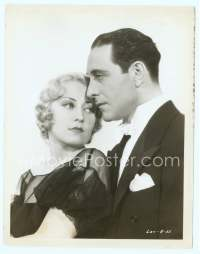 9g056 BROADWAY BAD 8x10.25 still '33 great close up of sexy Joan Blondell & Ricardo Cortez!