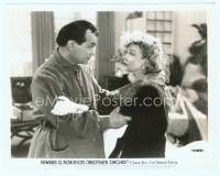 9g057 BROTHER ORCHID 8x10 still '40 criminal-turned-friar Edward G Robinson with Ann Sothern!