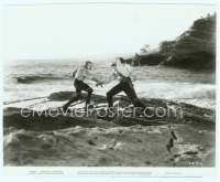 9g065 CAPTAIN BLOOD 7.75x9.5 still '35 Errol Flynn duelling with Basil Rathbone at Laguna Beach!