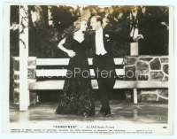 9g067 CAREFREE 7.5x10 still '38 close up of Fred Astaire & Ginger Rogers laughing & dancing!