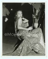 9g069 CAROLE LOMBARD candid 8x10 still '38 sexy in director's chair on the set of Fools for Scandal