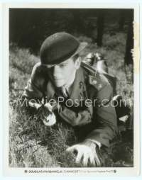 9g071 CHANCES signed 8x10 still '31 by Douglas Fairbanks Jr., in uniforn with gun on ground!