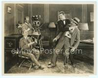 9g072 CHARLEY CHASE/LEO MCCAREY 8x10 still '20s the great comedy star mock choking the director!
