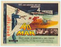9k003 4D MAN TC '59 Robert Lansing walks through walls of solid steel and stone!