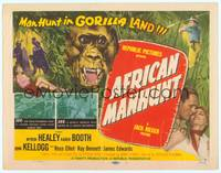 9k004 AFRICAN MANHUNT style A TC '54 in the forbidden jungle where no white man dared go!