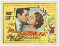 9k005 ALL AMERICAN TC '53 Tony Curtis, sexy Mamie Van Doren, Lori Nelson, football!