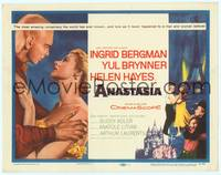 9k006 ANASTASIA TC '56 great romantic close up of Ingrid Bergman & Yul Brynner!