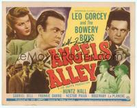 9k007 ANGELS' ALLEY signed TC '48 by Whitey Billy Benedict, shown with Leo Gorcey & The Bowery Boys