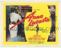 9k008 ANNA LUCASTA TC '59 art of red-hot night-time girl Eartha Kitt & Sammy Davis Jr.!